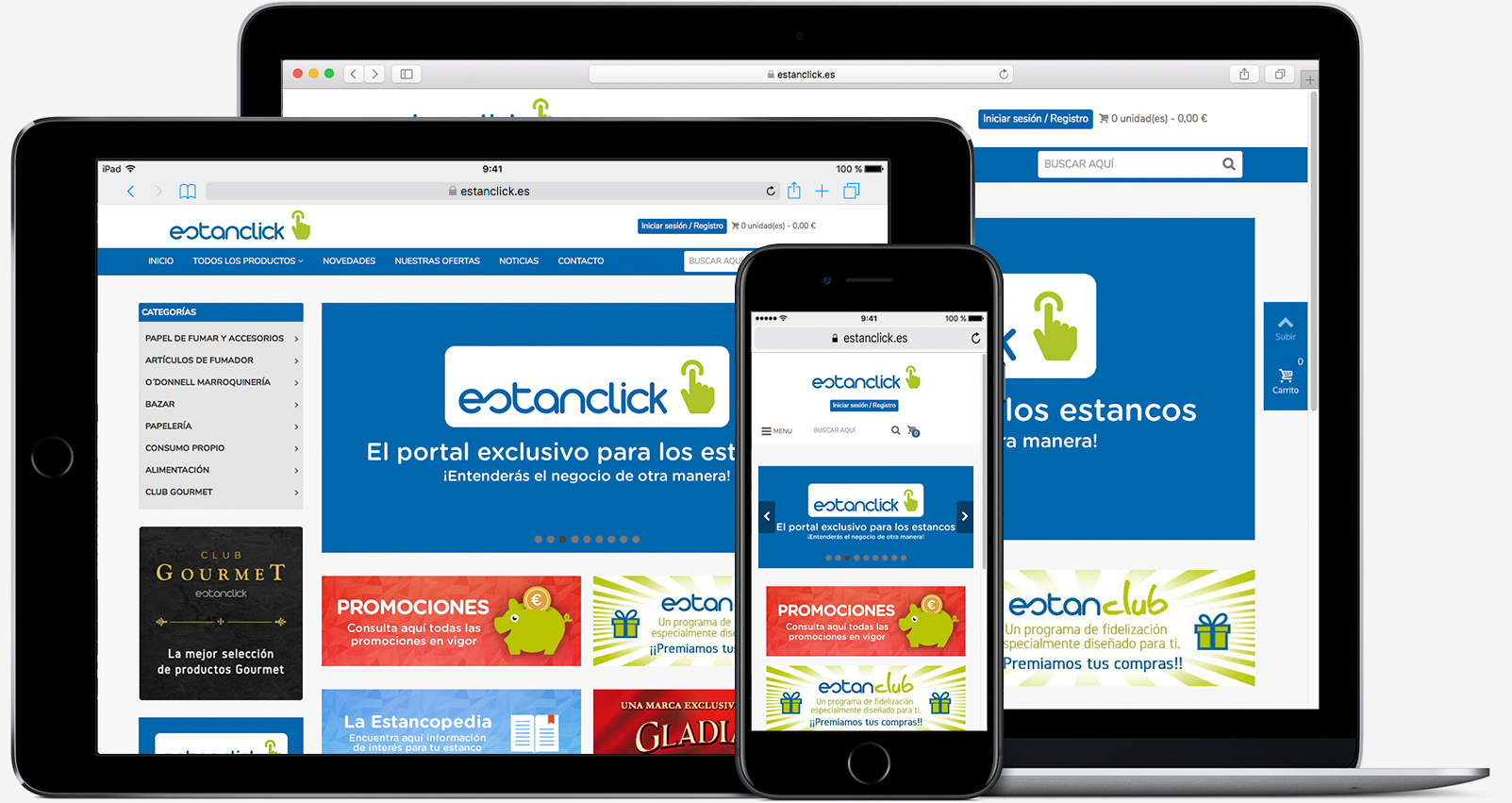 dispositivos con pagina de estanclick